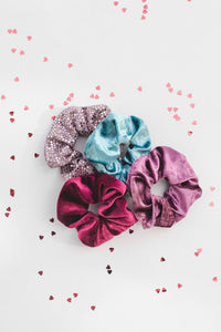 4-pack Hair Scrunchie - Aria & Sophia