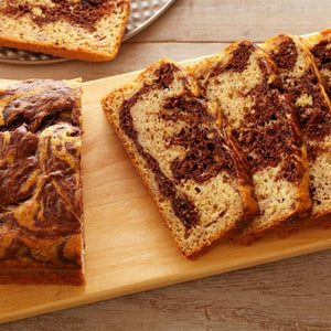 Sweet-Snack Marbled Banana Bread
