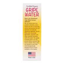 Certified Organic Gripe Water for Babies