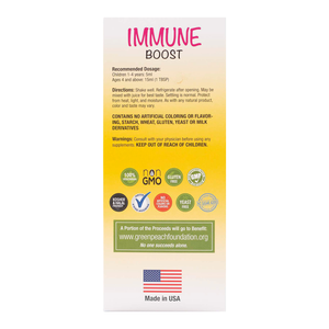 Liquid Kids Immune Boost – with Organic Elderberry Syrup, Zinc & Vitamin C for Toddlers/Children & Adults