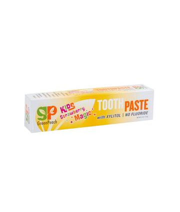 GreenPeach Fluoride Free Toothpaste For Kids -Strawberry Flavor