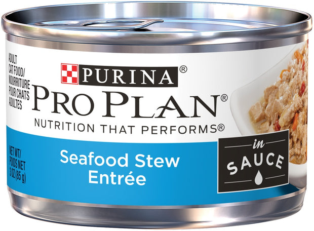 Purina Pro Plan Savor Adult Seafood Stew Entree in Sauce Canned Cat Food