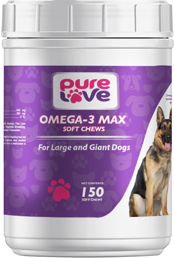 Pure Love EZ-Chew Omega-3 Fatty Acid Soft Chews for Large and Giant Dogs