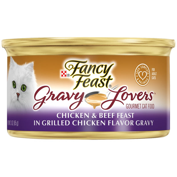 Fancy Feast Gravy Lovers Chicken & Beef Feast In Gravy Canned Cat Food