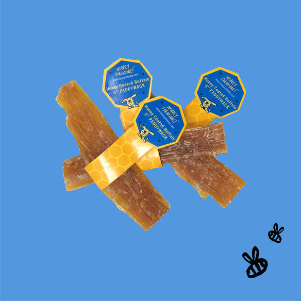 Honey I'm Home Natural Honey Coated Paddywack Buffalo Dog Chews