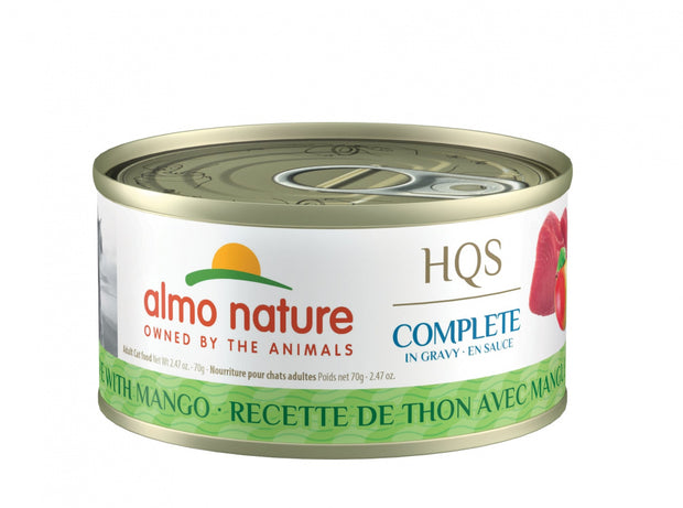 Almo Nature HQS Complete Cat Grain Free Tuna with Mango Canned Cat Food