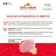 Almo Nature HQS Natural Cat Grain Free Ham with Parmesan Canned Cat Food