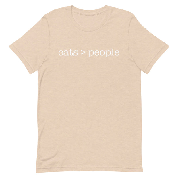 Cats > People Short-Sleeve Unisex T-Shirt