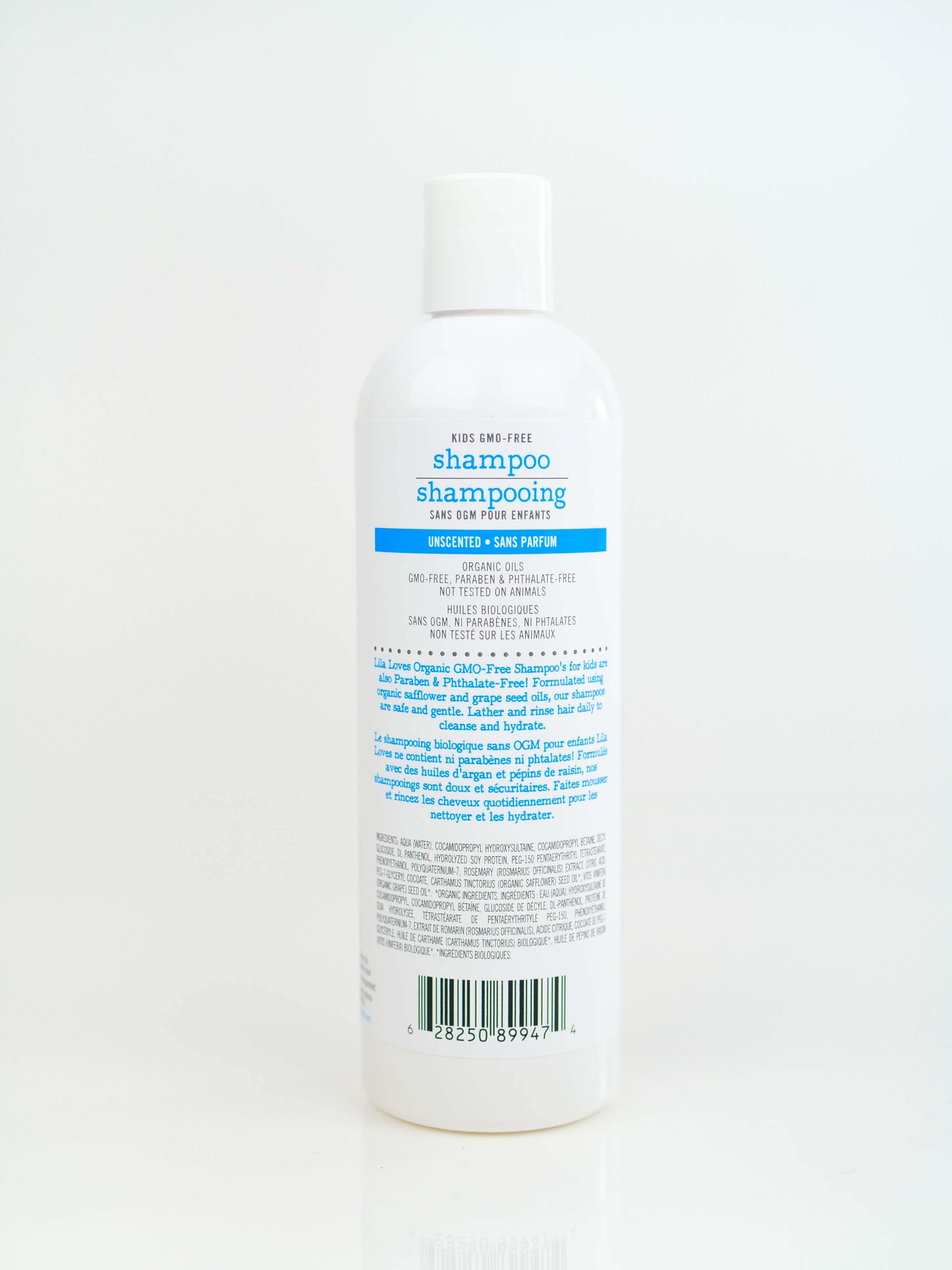 GMO-Free & SLS-Free Shampoo for Kids | Unscented for Sensitive Skin | 360ml