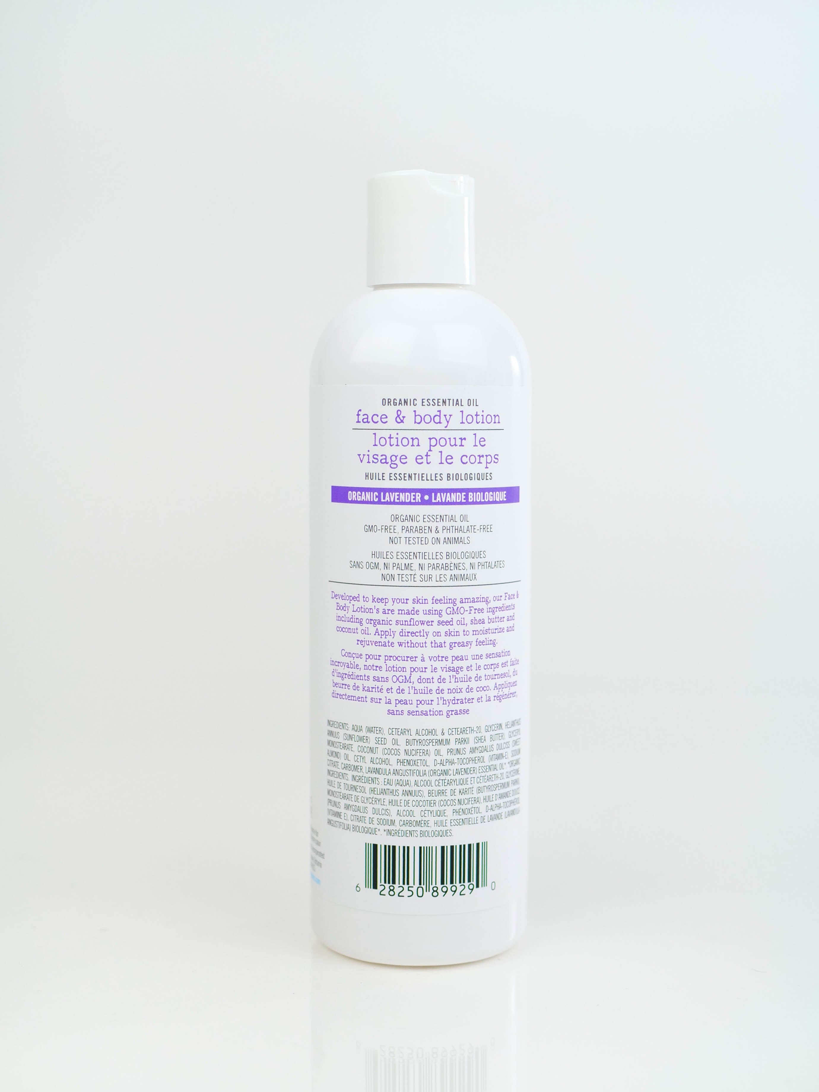 Organic Essential Oil Face & Body Lotion | Organic Lavender Essential Oil | 360ml
