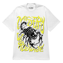 SCORPION GRAPHIC PRINT WHITE T-SHIRT