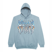 CHROME DEATH HOODIE DUSTY BLUE