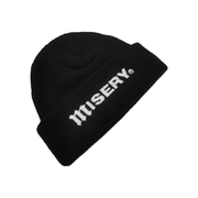 RIBBED FISHERMAN BEANIE BLACK