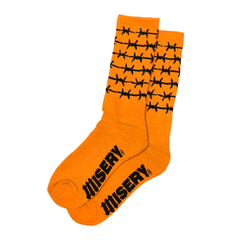 BARBED WIRE ORANGE SOCKS