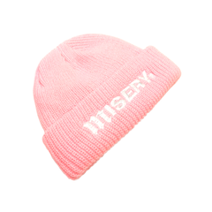 RIBBED FISHERMAN BEANIE BABY PINK