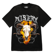 RAM SKULL GRAPHIC PRINT BLACK T-SHIRT