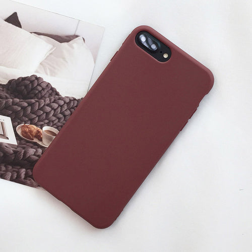 Simple Solid Color Phone Case for iPhone 8