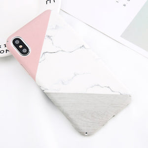 Leaf Marble Phone Case For iPhone X