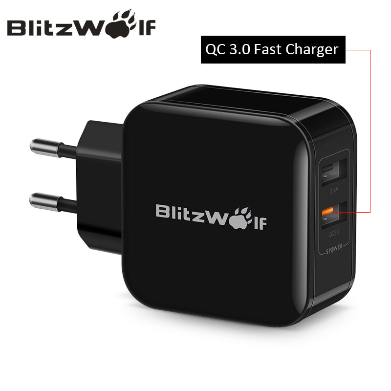 QC 3.0A + 2.4A Dual USB Charger