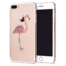Flamingo Leaf Soft TPU Cover for iPhone 8