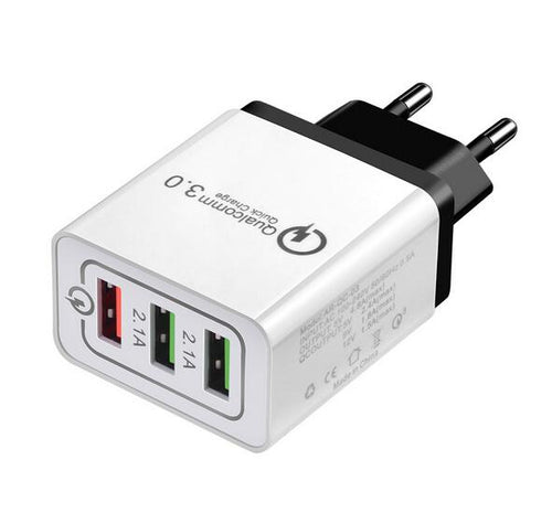 3 Ports Quick Charge 3.0 USB Charger
