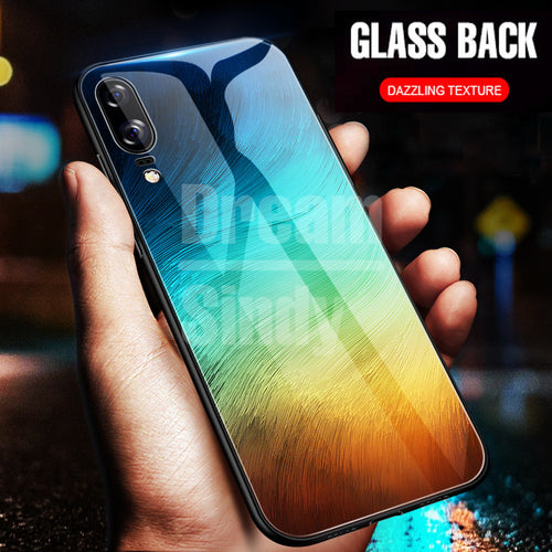 Luxury Tempered Glass Phone Case For Huawei P20 Lite