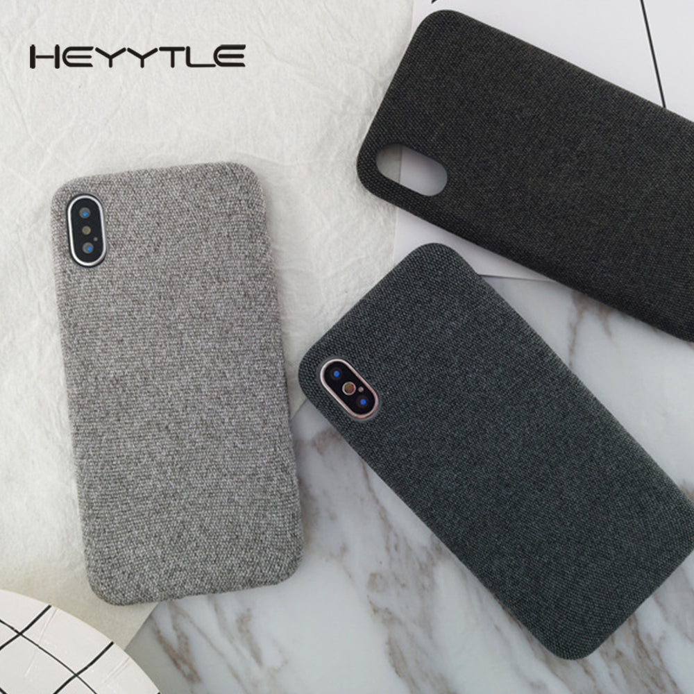 Plush Fabrics Phone Case For iPhone X