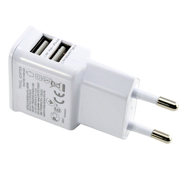 2A/1A Universal Travel USB Charger
