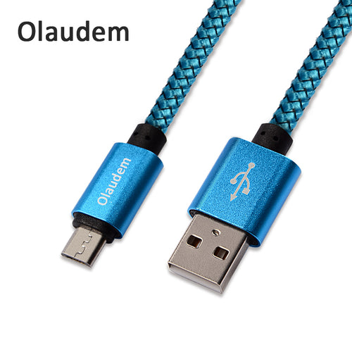 1M Micro USB Cable Fast Charging Nylon Braided