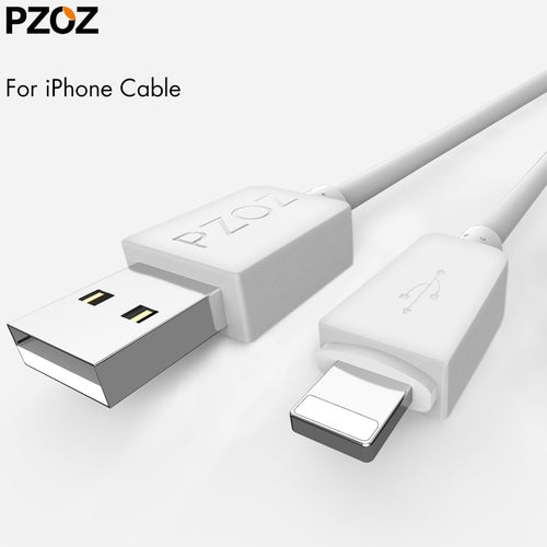 Pzoz Fast Charging Usb Cable For iphone Xs Max Charger Sync Data Usb Short Cord Wire Cabel For iphone 5 5s 6s 6 s 7 Phone Cable