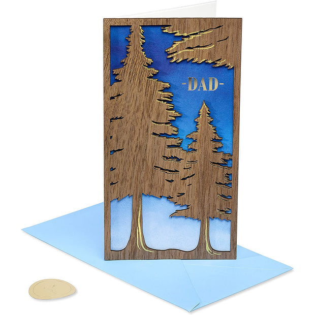 Trees Laser Cut Father's Day Greeting Card