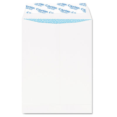 GRIP-SEAL SECURITY TINTED ALL-PURPOSE CATALOG ENVELOPE, #13 1/2, CHEESE BLADE FLAP, 10 X 13, WHITE, 100/BOX