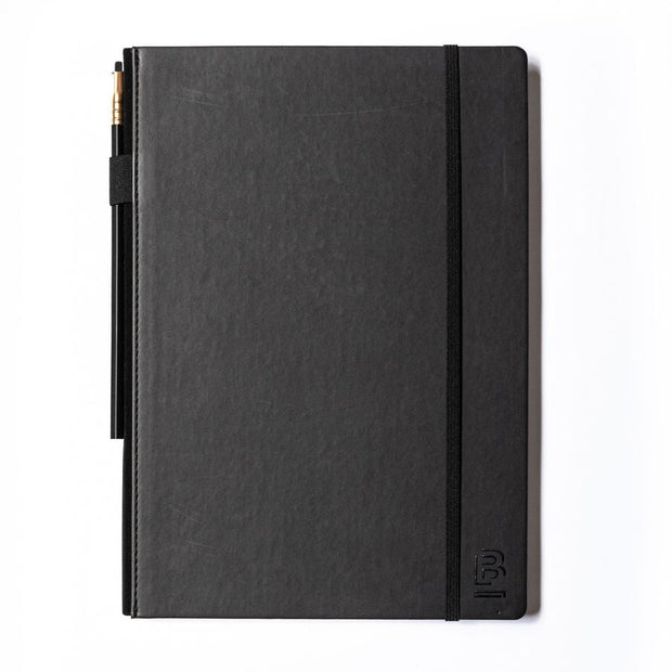 Blackwing Large Slate Notebook - Black Cover - Plain