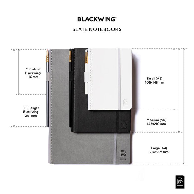 Blackwing Large Slate Notebook - Grey Cover - Ruled