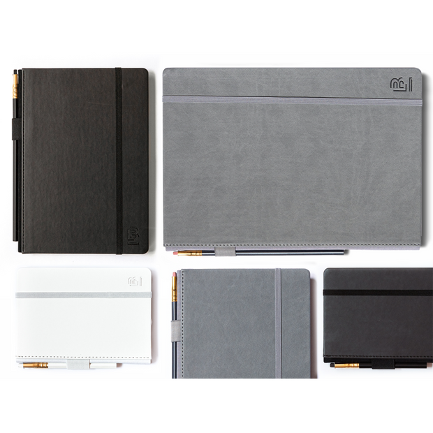 Blackwing Medium Slate Notebook - Black Cover - Plain