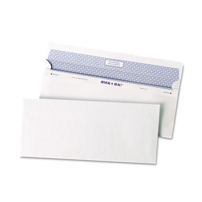 REVEAL-N-SEAL ENVELOPE, #10, COMMERCIAL FLAP, SELF-ADHESIVE CLOSURE, 4.13 X 9.5, WHITE, 500/BOX