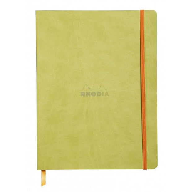 "Rhodia Rhodiarama Soft Cover 7 1/2"" x 9 7/8"" Notebook - Ruled - Anise"