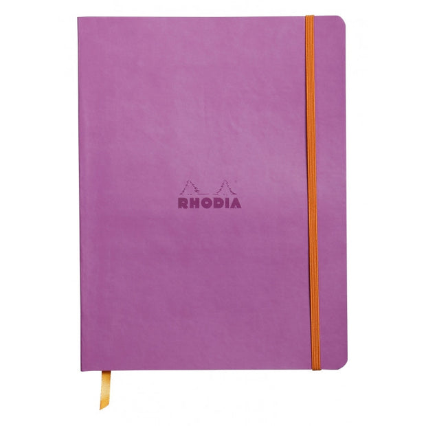 "Rhodia Rhodiarama Soft Cover 7 1/2"" x 9 7/8"" Notebook - Ruled - Lilac"