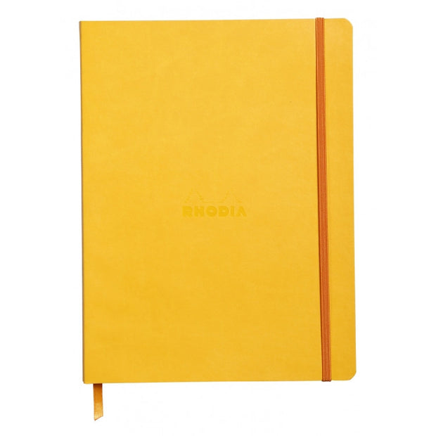 "Rhodia Rhodiarama Soft Cover 7 1/2"" x 9 7/8"" Notebook - Ruled - Yellow"