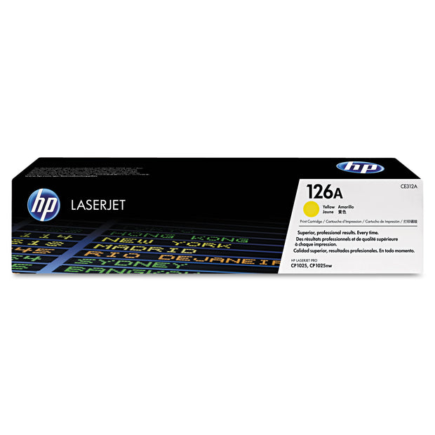 Hp 126a, (ce312a) Yellow Original Laserjet Toner Cartridge