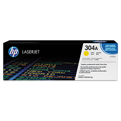 Hp 304a, (cc532a) Yellow Original Laserjet Toner Cartridge