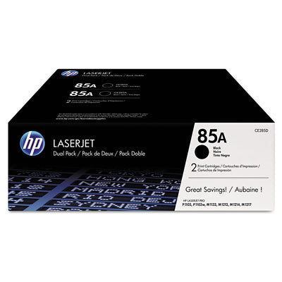 Hp 85a, (ce285d) 2-Pack Black Original Laserjet Toner Cartridges