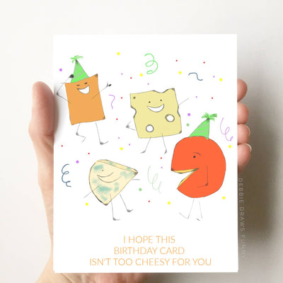 Cheesy Birthday Card Funny Birthday Card Pun Greeting Cards