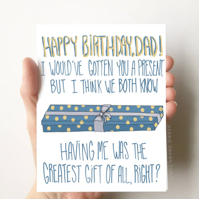 Happy Birthday Dad Funny Birthday Card