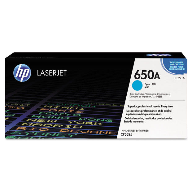 Hp 650a, (ce271a) Cyan Original Laserjet Toner Cartridge