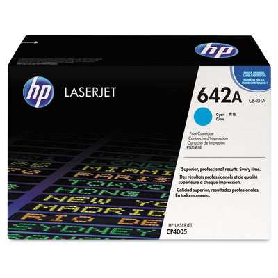 Hp 642a, (cb401a) Cyan Original Laserjet Toner Cartridge
