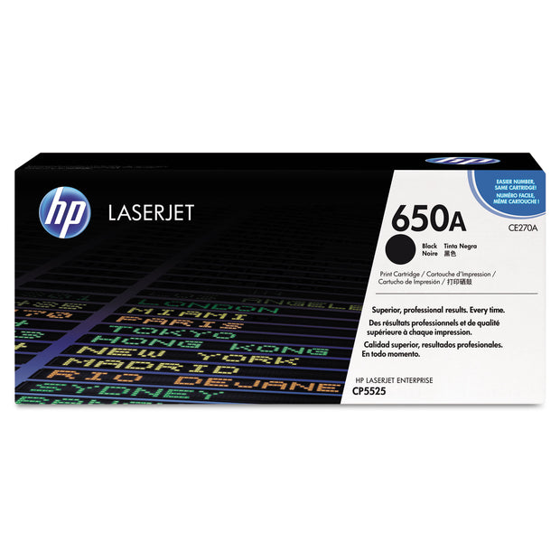 Hp 650a, (ce270a) Black Original Laserjet Toner Cartridge
