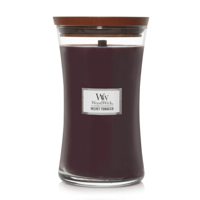 WoodWick Large Hourglass Candle - Velvet Tobacco