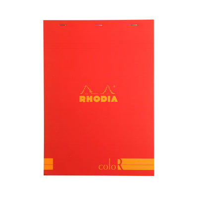 Rhodia ColoR Pads, Poppy Cover, Ruled Pages, 6 x 8 1/4