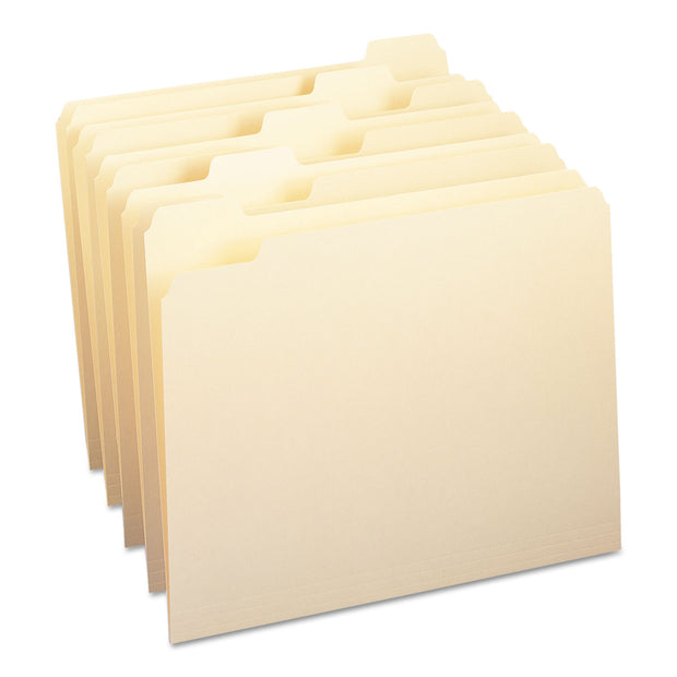 MANILA FILE FOLDERS, 1/5-CUT TABS, LETTER SIZE, 100/BOX